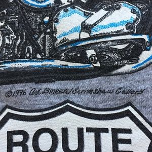 Labor Day Vintage 1996 Route 66 Motorcycle T Shirt